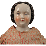 1860s High Brow China Doll 12.5 inch