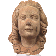 Antique Terra Cotta Bust of a Girl 5 inch