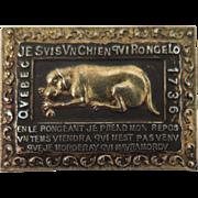 Antique Sterling Silver Golden Dog Le Chien d'Or Brooch