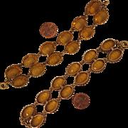Victorian Citrine Paste Vermeil Bracelet