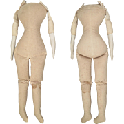 17 inch Vintage Replacement Body for Bisque Parian Shoulder Head Doll