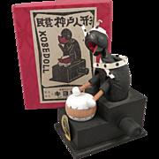 Japanese Kobe Wood Mechanical Doll Toy