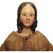 1840s German Papier Mache Milliners Model Doll 27 inches