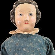 1870s Darrow Leather Head Doll 16 inch