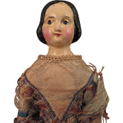 1840s German Papier Mache Milliner's Model Doll 13 inch