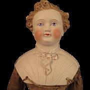 1870s Kling Parian Bisque Man Doll 18 inches