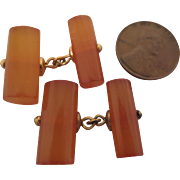MCM 1960s Vintage Amber Cufflinks