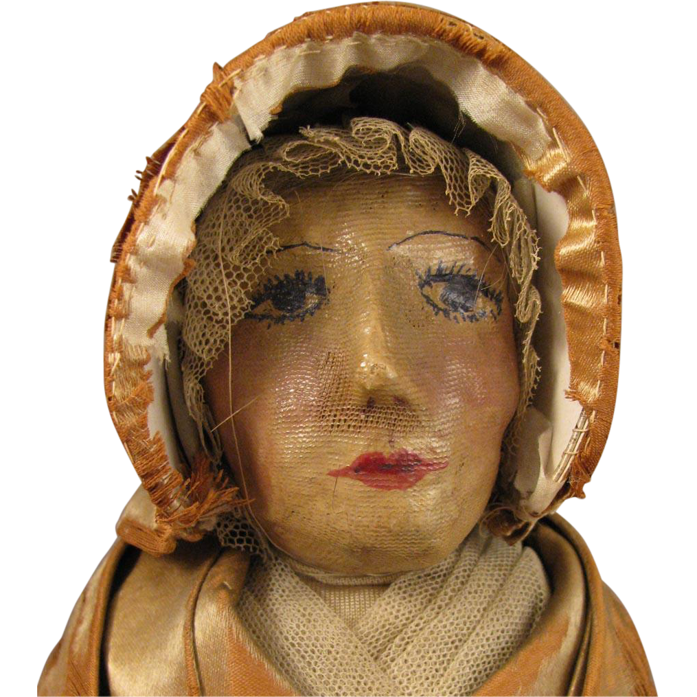 13 inch c.1920s Cloth Quaker Lady Doll
