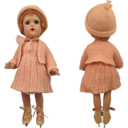 Horsman Bright Star Composition Doll with Skates 14 inch