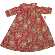 Antique Red Paisley Flannel Dress Robe for 16 inch Doll