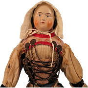 1860s German Covered Wagon China Doll 17 inch