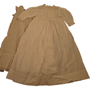 Antique White Cotton Dress and Slip for 24 inch Doll