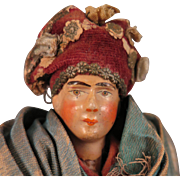 Antique Italian Terra Cotta Doll 9 inch