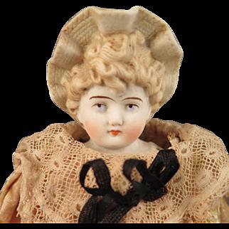 Hertwig Bisque Bonnet Doll 10.5 inch