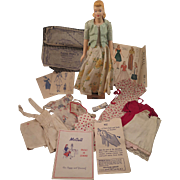 1940s McCall Peggy Sewing Mannequin Manikin Doll with Clothes and Patterns