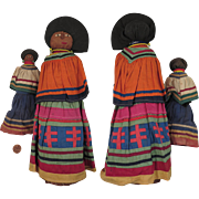 Pair Seminole Indian Palmetto Dolls