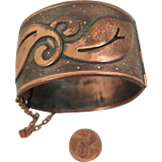 Arts and Crafts Copper Cuff Bracelet