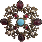 Antique Renaissance Revival Paste Brooch