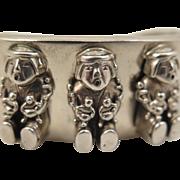 1989 Carol Felley Story Teller Bracelet Sterling Silver