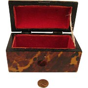 Antique Mini Trunk for Fashion Doll 2.5 x 3 x 5 inch