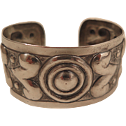 Early Mexican 900 Silver Cuff Bracelet