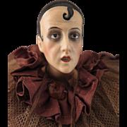 Early 1900s Pierrot Clown Jester Doll