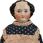 1870s Flat Top China doll 15 inches