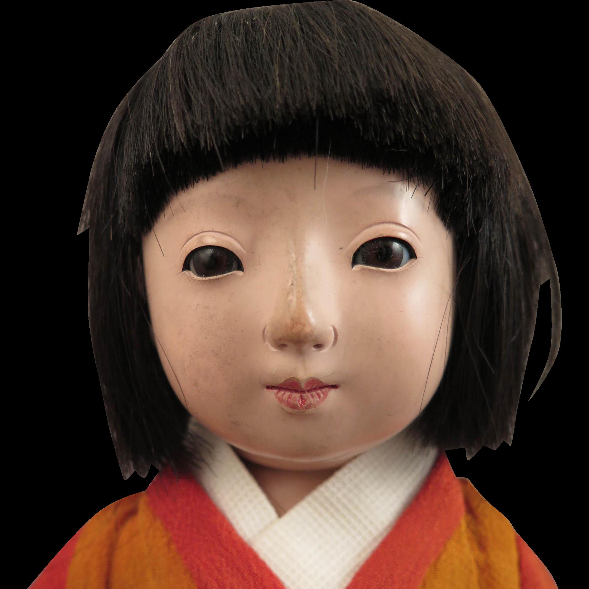 1950s Japanese Ichimatsu Girl Doll 13 inch