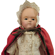 Mid 1800s German Motschmann Taufling Baby Doll 9 inches
