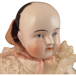 Mid 1800s China Motschmann Taufling Baby Doll 15 inches
