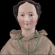 Schlaggenwald China Doll with Spiral Bun 22 inch