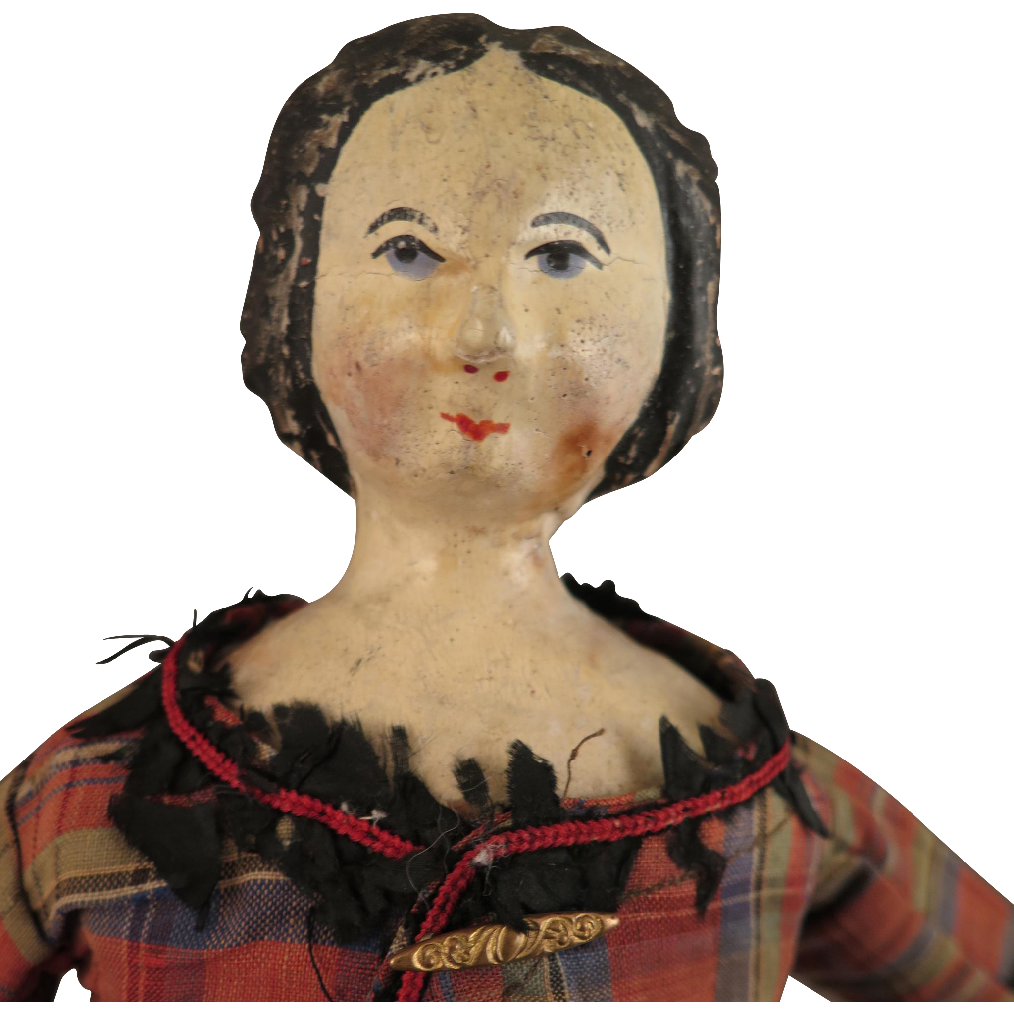 Antique Wood Doll 16.5 inches