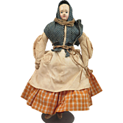 1850s German Papier Mache Doll All Original 9 inches