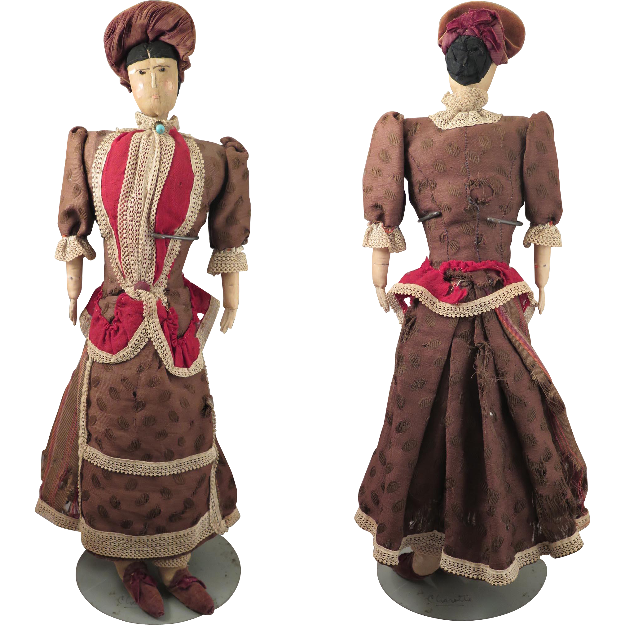 22 inch Antique Cloth Doll All Original