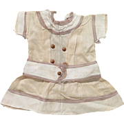 Early 1900s Cotton Dress for 10-11inch Doll