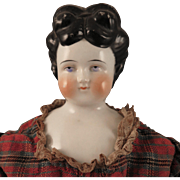 Antique 22 inch German China Doll with Mounded Hairstyle