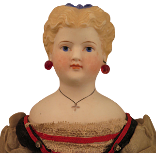 Antique Simon Halbig Parian Bisque Doll All Original 14 inches
