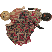 Antique Papier Mache Topsy Turvy Doll 7 inches