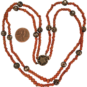 Early 1900s Double Coral Necklace