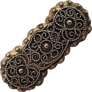 Antique Danish 826 Silver Brooch