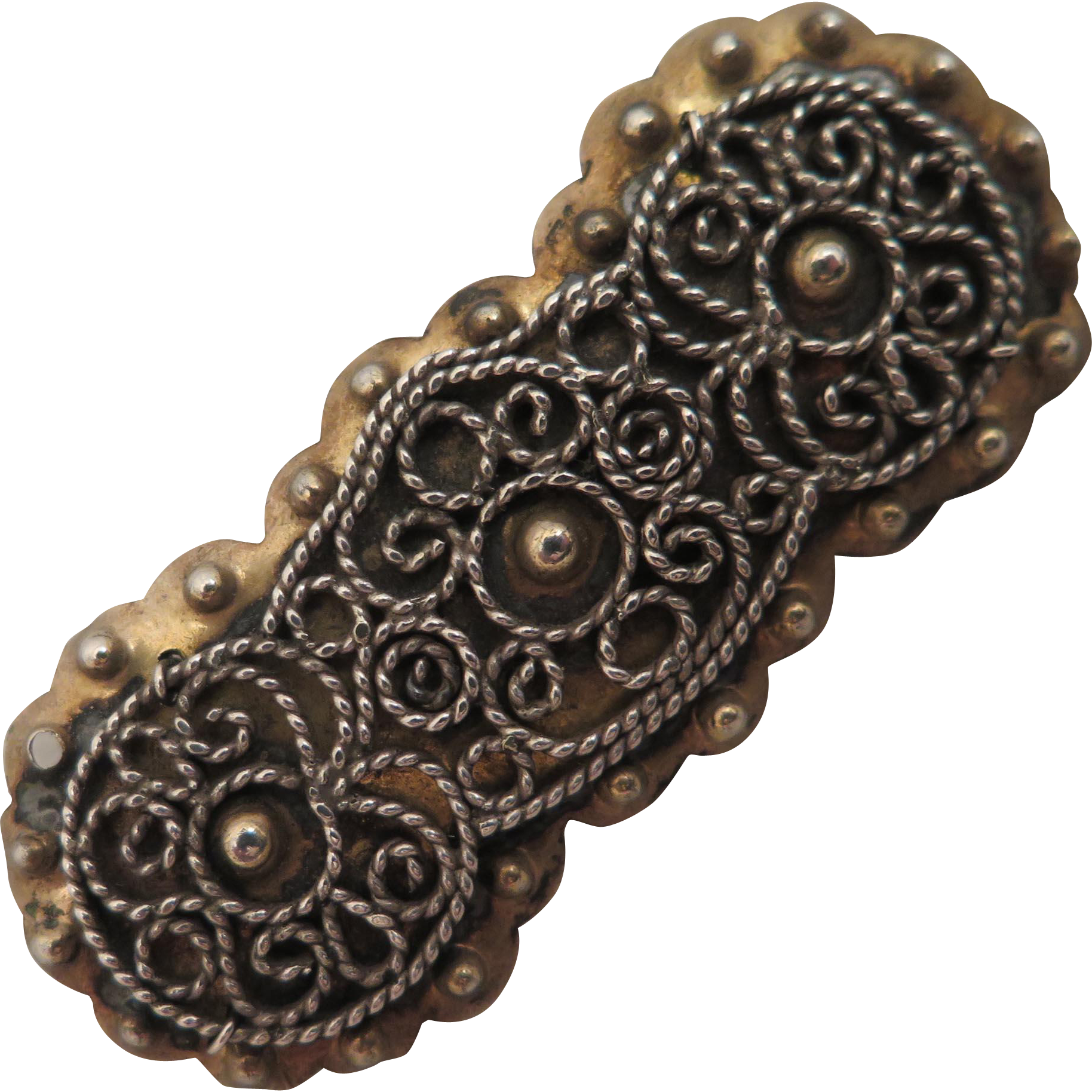Antique Danish 826 Silver Brooch