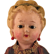 1870s Wax over Papier Mache Doll 20 inch