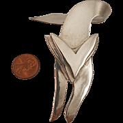 Vintage Mexican Sterling Silver Fox Brooch