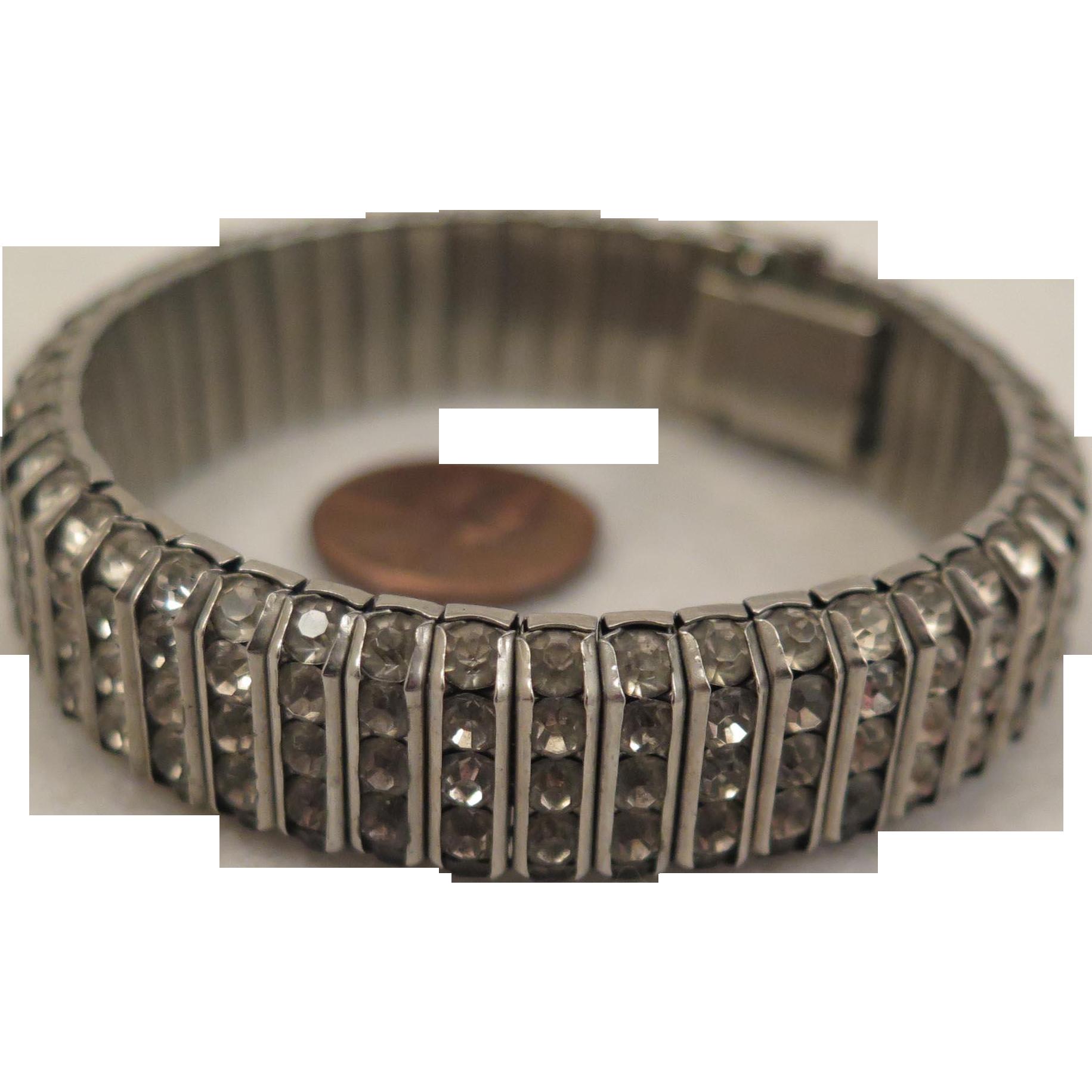 Vintage German Rhinestone Bracelet