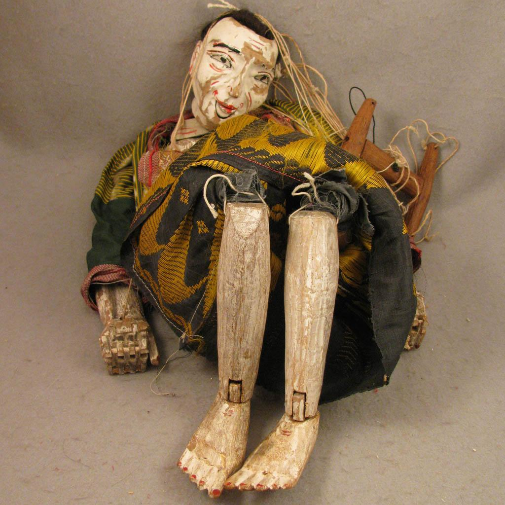 24 inch Antique Myanmar Burma Wood Puppet Doll Old Woman ...