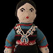 """Vintage 10.5"""" American Navajo Indian Beaded Doll c.1980"""
