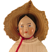 1850s Kestner Covered Wagon China Doll 22 inch