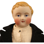 1860s ABG Parian Bisque Male Doll 13 inch