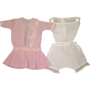 Antique Pink Dress plus Underwear for 18 inch Doll