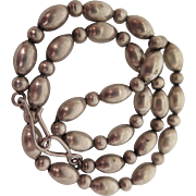 Antique Sterling Silver Bead Necklace